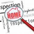 Home Inspection - Magnifying Glass - Foto Stock