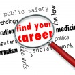 Find Your Career - Magnifying Glass - Stock Photo