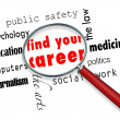 Find Your Career - Magnifying Glass - 图库照片