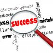 Finding Success Amid Failure - Magnifying Glass — Stockfoto