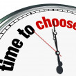 Time to Choose - Clock Reminds to Decide - Stock Photo