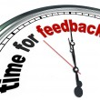 Stock Photo: Time for Feedback Clock Input and Responses