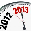Stock Photo: 2013 Clock Face Time Ticking Down to Start of New Year