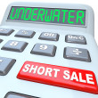 Stock Photo: Underwater Short Sale Words on Calculator