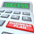 Business Plan Success Strategy Words Calculator — Stock Photo