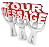 Team Lift Words Your Message Advertising Special Announce — Photo