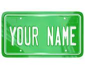 Votre badge nominatif de vanité personnalisé plaque d'immatriculation — Photo