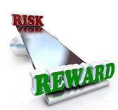 Risk Vs Reward Comparison on Balance Return on Investment — Stock Photo