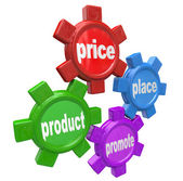 Four Ps the Principles of Marketing Mix Successful Business — Stock Photo