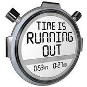 Tijd loopt uit stopwatch timer klok — Stockfoto