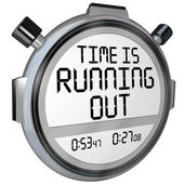 Time is Running Out Stopwatch Timer Clock — Fotografia Stock
