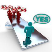 Yes Answer Outweighs No Answers in Balance — Foto Stock