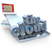 The Cloud vs Computer Hard Drive - Local or Network File Storage — Stock Photo