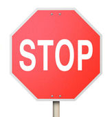Stop Sign - Isolated — Stock Photo
