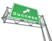 Freeway Sign - Success - Isolated — Stock Photo