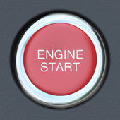 Engine Start - Car Push Button Starter — Stock Photo