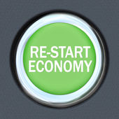 Re-Start Economy - Car Push Button Starter — Stock Photo