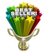最佳卖方奖杯顶部的销售项目销售人员 — 图库照片