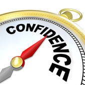 Confidence - Compass Leads You to Success and Growth — Stock Photo