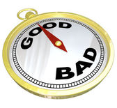 Compass - Leading to Path of Good vs Bad — Stock Photo