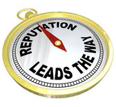 Reputation Leads the Way Compass Trustworthy Credible Leader — Stock Photo