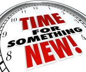 Hora de algo novo relógio atualização atualização mudança — Foto Stock