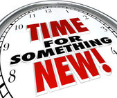 Zeit für etwas neues update upgrade zeitänderung — Stockfoto