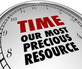 Time Our Most Precious Resource Clock Shows Value of Life — Zdjęcie stockowe