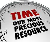 Zeit unsere wertvollste ressource uhr zeigt wert des lebens — Stockfoto