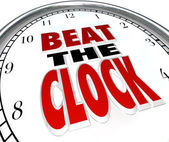 Beat the Clock Words Deadline Countdown — Zdjęcie stockowe