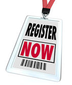 Register Now - Registration for Trade Show Event — Stock Photo