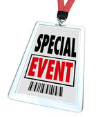 Special Event Badge Lanyard Conference Expo Convention — Stock Photo