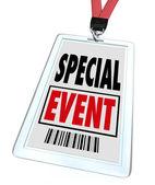Sonderveranstaltung abzeichen schlüsselband konferenz expo convention — Stockfoto