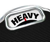 Escala de medición de peso o masa pesada palabra — Foto de Stock