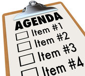Agenda on Clipboard Plan for Meeting or Project — Stock Photo