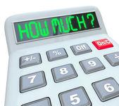 Kalkulator ile może sobie pozwolić lub zapisać — Zdjęcie stockowe