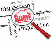 Home Inspection - Magnifying Glass — Stock Photo