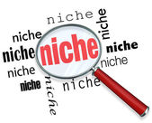 Finding a Targeted Niche - Magnifying Glass — Stock Photo