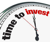 Hora de invertir - reloj — Foto de Stock