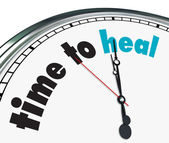 Czas się leczyć - ozdobny zegar — Zdjęcie stockowe