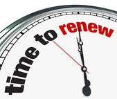 Time to Renew - Clock — Stock Photo