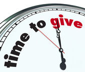 Time to Give - Ornate Clock — Foto Stock