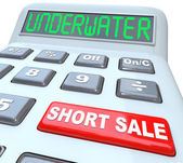Underwater Short Sale Words on Calculator — Stock Photo