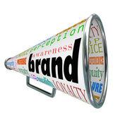 реклама продукта бренда мегафон построить лояльности — Стоковое фото