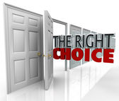 The Right Choice Open Door New Opportunity Choose Path — Foto de Stock