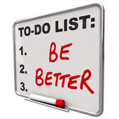 Liste des actions être mieux mots effaçables à sec conseil — Photo