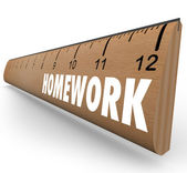 Homework Ruler Assignment Lesson Project for School — Stock Photo