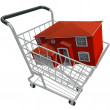 Buying a House - Shopping Cart — Stock Photo