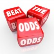 Stock Photo: Beat Odds - Three Red Dice