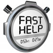 Fast Help Customer Support Stopwatch Timer Clock - Stock Photo